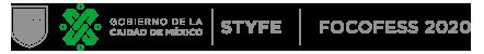 Logo del Gobierno de la Ciudad de México | STYFE | FOCOFESS 2020