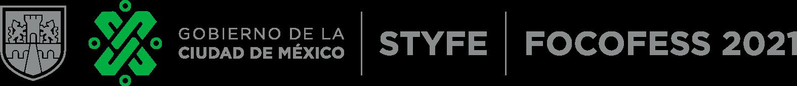 Logo del Gobierno de la Ciudad de México | STYFE | FOCOFESS 2021